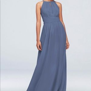David's Bridal Bridesmaid Dress. Slate Blue.Size 8